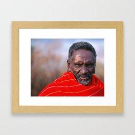 African Maasai Elder Framed Art Print