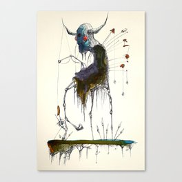 Fishing Witch on Stilts Canvas Print
