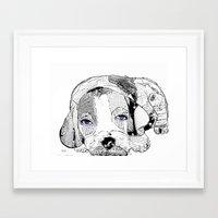 beagle Framed Art Prints featuring Beagle by bri.buckley
