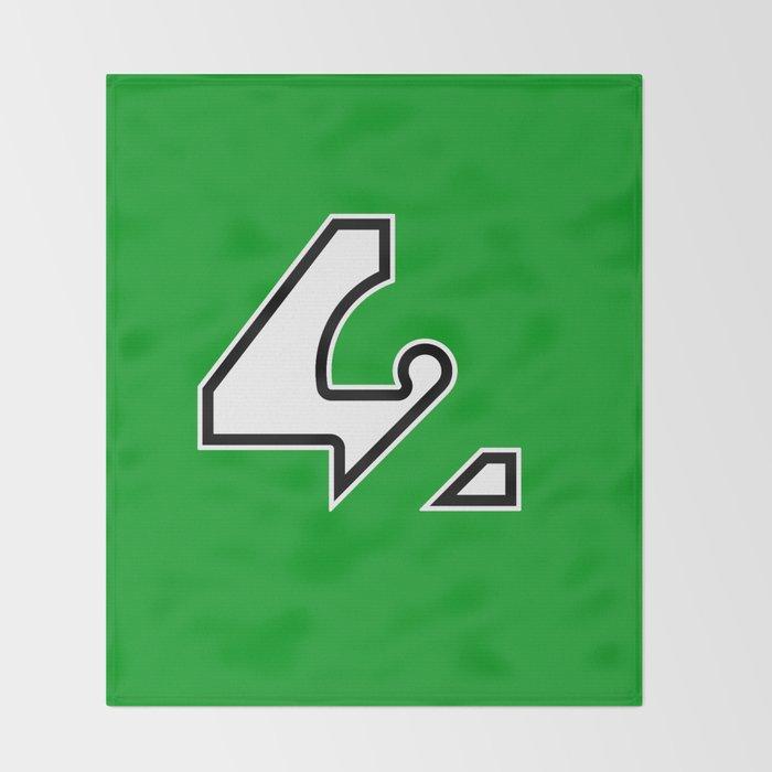 42 - Green Throw Blanket