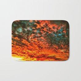 Skies Aflame Bath Mat