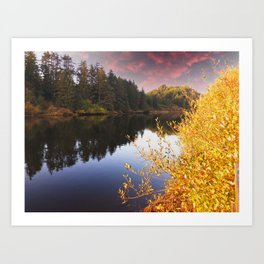Pacific City Nestucca River Oregon Fall Art Print