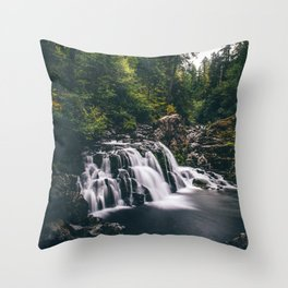 Sawmill Falls on Opal Creek, Oregon Throw Pillow