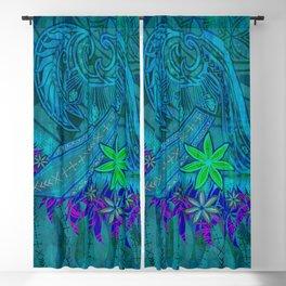 Vintage Polynesian Tribal Princess Print Blackout Curtain