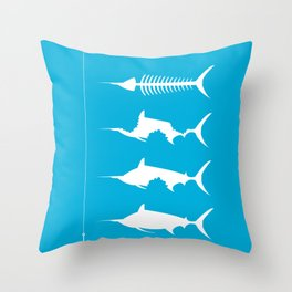 Oldman And The Sea Throw Pillow