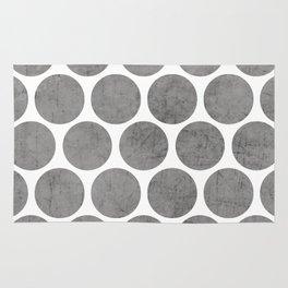 gray polka dots Rug