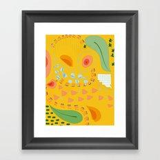 Yellow sunshine darling | Home decor | Happy art Framed Art Print