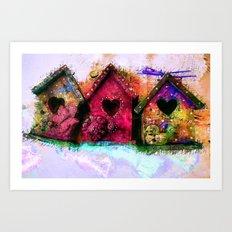 Baby Birdhouses Art Print