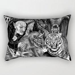Fear Is The Devil Rectangular Pillow