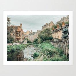 Dean Village, Edinburgh, Scotland Art Print