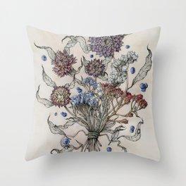 Autumn Florals Throw Pillow