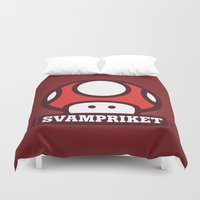 logo Duvet Covers featuring Logo by Svampriket