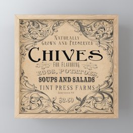 Chives Framed Mini Art Print