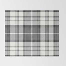 Black & White Tartan Throw Blanket