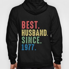 Best. Husband. Since. 1977 42nd Wedding Anniversary for Him Hoody