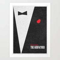 the godfather Art Prints featuring The Godfather by Ayse Deniz
