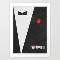 godfather Art Prints featuring The Godfather by Ayse Deniz