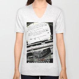 Message in a Typewriter Unisex V-Neck