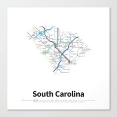 Highways of the USA – South Carolina Canvas Print