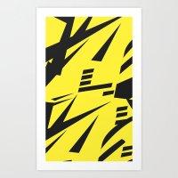 Dazzle yellow large Art Print