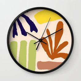 Color Study Matisse Inspired Wall Clock