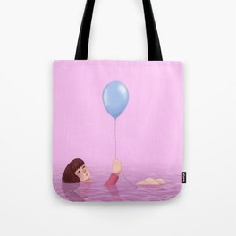 the pink sea Tote Bag