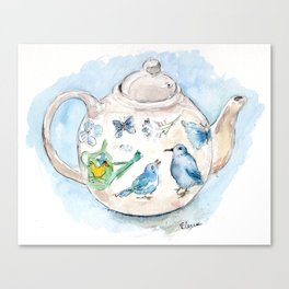 Tea in Wonderland Canvas Print