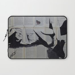 Sleeping girl with butterfly Laptop Sleeve