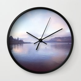 Serenity on the Loch Wall Clock