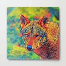 AnimalColor_Wolf_001_by_JAMColors Metal Print