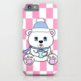 Polar Bear Drinking Hot Chocolate iPhone Case