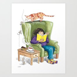 Suspense Reader Art Print