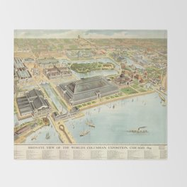 World Columbian Exposition in chicago 1893 Throw Blanket