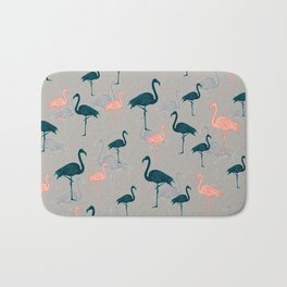 Tropical Gathering Flamingo Design Bath Mat