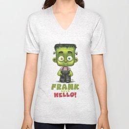 Frank says hello! Unisex V-Neck