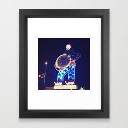 Circus Liquor Neon Sign Framed Art Print
