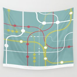 Line By Line - Bubblegum Pop-A Wall Tapestry