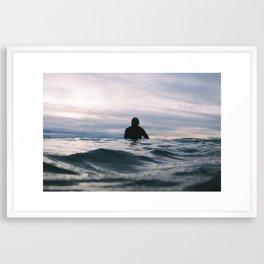 ocean Surf V Framed Art Print