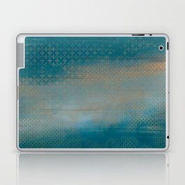 ABUR with Gold on Turquoise Laptop & iPad Skin