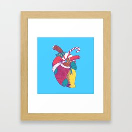 Christmas Heart Framed Art Print