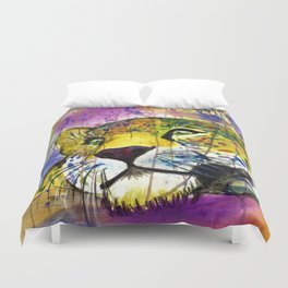 Daydreaming Leopard Duvet Cover