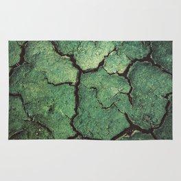 Cracked Green Rug