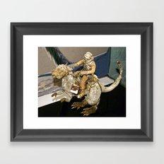 Luke and the Tauntaun Framed Art Print