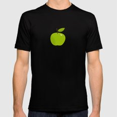 Apple 25 MEDIUM Black Mens Fitted Tee