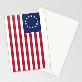 Betsy Ross USA flag Stationery Cards