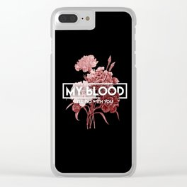 my blood Clear iPhone Case