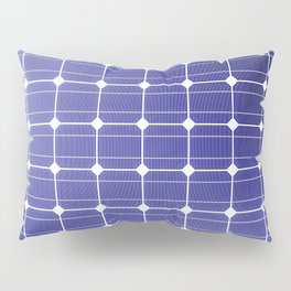 In charge / 3D render of solar panel texture Pillow Sham