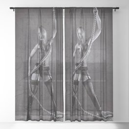 Lingerie and Rope Sheer Curtain