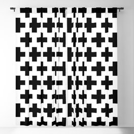 Swiss Cross B&W Blackout Curtain
