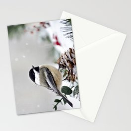 Winter Chickadee Stationery Cards